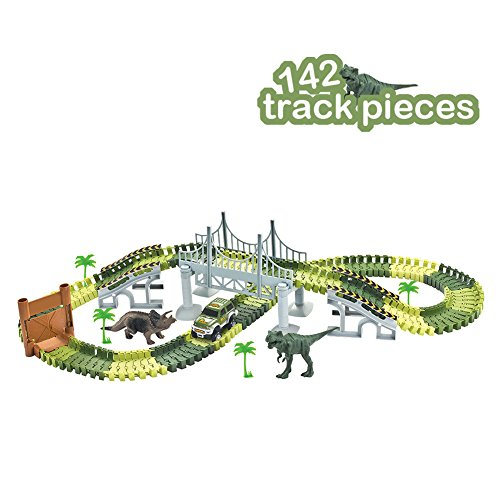Great for any dinosaur or train track fans