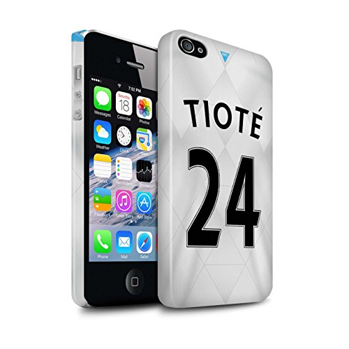 Offiziell Newcastle United FC Hülle / Glanz Snap-On Case für Apple iPhone 4/4S / Pack 29pcs Muster / NUFC Trikot Away 15/16 Kollektion Tioté