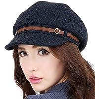 Sombrero Moda Joker Sombrero Femenino Ocio Diario Compras Aire Libre a Prueba de Viento Sombrero cálido Viento británico (Color : B, Tamaño : Metro)