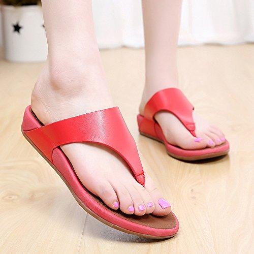 Estate Sandali Pantaloni donna Summer Comfort Casual Flat Heels Scarpe da passeggio Scarpe da spiaggia di temperamento Colore / formato facoltativo #4