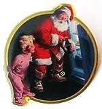 Coca Cola - Weihnachtsmann mit Kind vor Kühlschrank - Pin