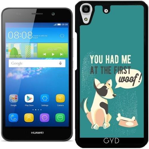 Hülle für Huawei Y6 / Y6 DUAL - Hund Tier Text Freund Haustier by UtArt (Dual-grafik-t-shirt)