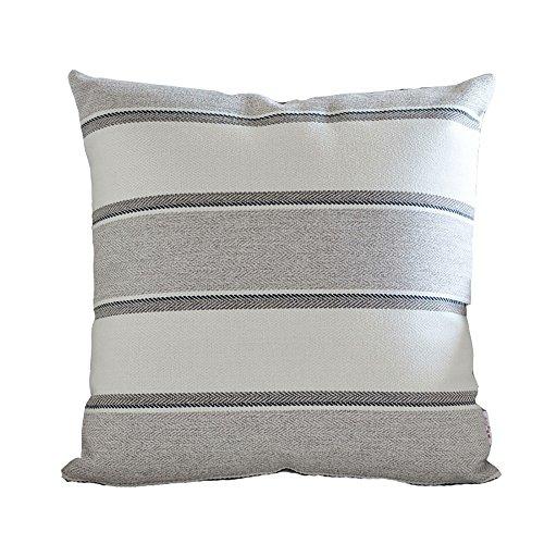 LJHA Flachs Streifen Kissen Kissen / home / Büro / Sofa Kissen / Lendenkissen / Bett Rückenlehne Kissen / großes Kissen / Auto Lendenkissen ( Farbe : Grau , größe : 60*60cm )