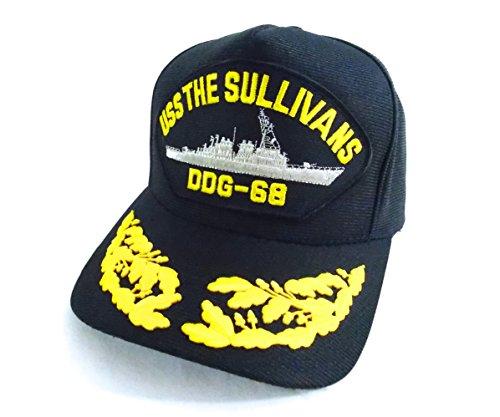 uss-the-sullivans-ddg-68-casquette-de-pont-officier-navire-militaire-navy-destroyer-americain