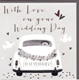 Belly Button Designs Glückwunschkarte zur Hochzeit mit Folienprägung und Kristallen. BB353