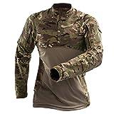 UJUNAOR Männer Camouflage Bluse im Freien Taktische Outdoor-Sport-Langarmshirts Schlank(Khaki,EU L/CN XL)