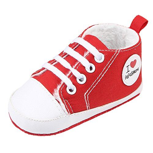 Fire Frog  Winter Sneaker, Baby Jungen Lauflernschuhe Rot