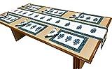 #10: Miyanbazaz Textiles 100 % Block Printed on canvas Table Line Set, 6 Mats, 6 Napkins & 1 Runner, Pack of 13