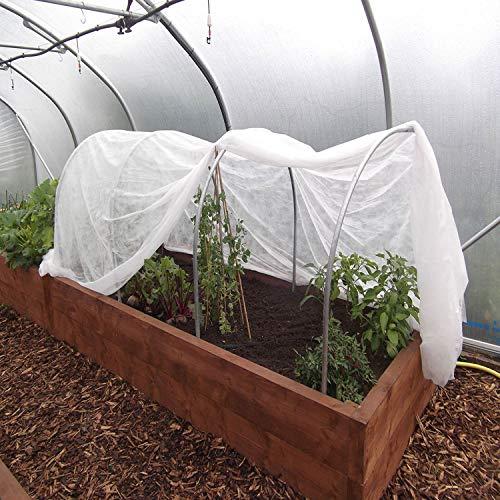 Tech-garden, copertura protettiva antigelo per piante fai da te, in pile, per evitare danni da congelamento e freddo con coperta bianca