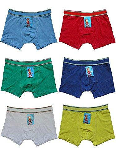 6er Pack Kids Jungen Boxershorts Unterhosen uni Gr. 92 - 164 Neu (92 - 98)