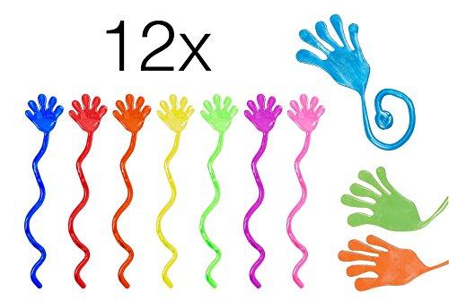 12x Stück Kinder Mitbringsel Giveaways Mitgebsel Glibber stretchy / Give away Gummi Klatschhand /...