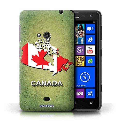 Kobalt® Imprimé Etui / Coque pour Nokia Lumia 625 / Afrique du Sud/Afrique conception / Série Drapeau Pays Canada