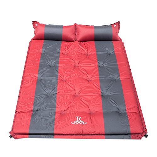 BELLAMORE GIFT Luftmatratze Isomatte für 2 Personen Selbstaufblasbare Matratzen Campingmatratze mit Kopfkissen Camping Size 192 x 132 x 5 cm