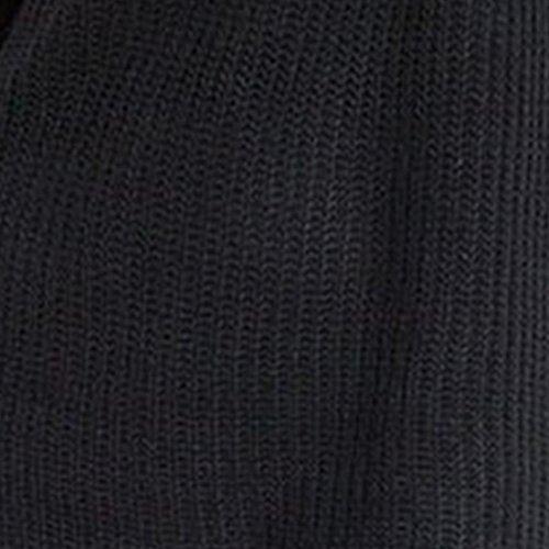 HIver Femme Pull Robe Longue Robe Tricote Femme Tunique Hiver 2017 Noir