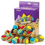 Chiwava 45 STÜCK 4,2 cm Schaum Katzenspielzeug Ball Regenbogen Farbe Bälle Kätzchen Aktivität Chase Spielen Mix Farbe