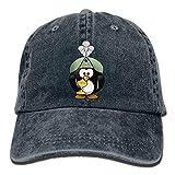 angwenkuanku Unisex Orientalische Pinguin Baseball Cap Yarngefärbt Denim Hat Verstellbare Outdoor Sport Cap Gorgeous 10066