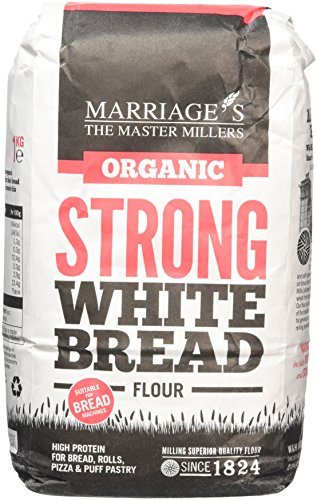 Marriages Organic Strong White Bread Flour 1 kg (Pack of 6)