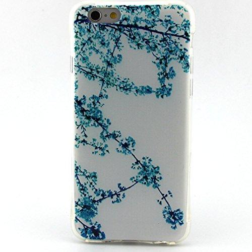 iPhone 6S Plus Hülle,iPhone 6 Plus Silikon Case - Felfy Exklusive Ultra Thin Leicht Gel TPU Silikon Weiche Hülle Gemalt Muster Design Pattern Protektiv Case Skin Back Cover Tasche Anti Finger Kratzer  Aprikose