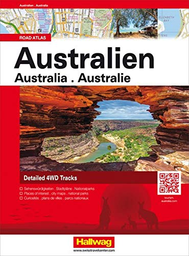 Australien Road Atlas: 4WD Routes with GPS Positions (Hallwag Atlanten) (Map-tasmanien)