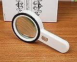 HQQ Hochauflösende optische 30-fach-Lupe M 100MM-Pflege Antike Schmuck-Handlupe, die große Hand mit hoher Vergrößerungslinse liest