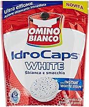 Omino Bianco-idrocaps White sbianca y Smacchia, Ultra Eficaz, 12Cápsulas-240g
