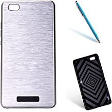 "Huawei P8Lite Funda, [High Pro Shield] CLTPY Huawei P8Lite [Plástico Duro y TPU Flexible] Cubierta con Textura de Metal Pulido, [Resistente a los arañazos] Caja Protectora para el 5.0"" Huawei P8Lite (No Huawei P8) + 1 x Aguja - Plata"