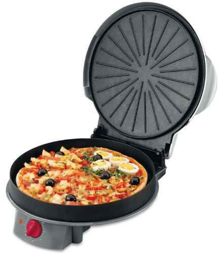 Fagor Mg 300 - Horno para pizzas con tapa, color gris y negro