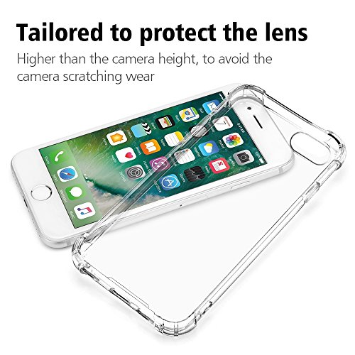 Coque iPhone 8 Coque iPhone 7, ONSON® Silicone Gel Etui iPhone 7 iPhone 8 Antichoc Housse iPhone 7/8 Transparente Coque de Protection Pour Apple iPhone 7/8 Rigide