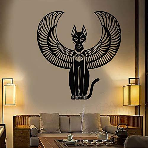 Alte ägyptische Katze Göttin ägyptischen Wandaufkleber Vinyl Kunst abnehmbare Poster Wand moderne Dekoration Mode Poster Aufkleber A11 42x45 cm
