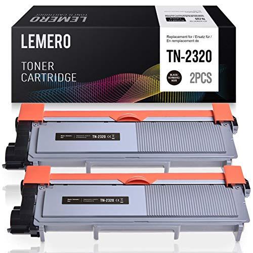 2 LEMERO TN2320 TN2310 Toner Compatibile per Brother MFC-L2700DW DCP-L2500D HL-L2340DW HL-L2300D HL-L2360DN DCP-L2520DW DCP-L2540DN MFC-L2700DN HL-L2365DW MFC-L2720DW MFC-L2740DW,2nero