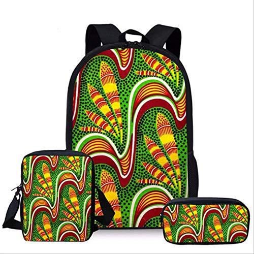 OFOO Schulranzen Kinder Mädchen Rucksack Afrikanischer Traditioneller Druck Schulrucksäcke Teenager Schulrucksack Set Schulrucksack Mädchen Yq1099Cek -