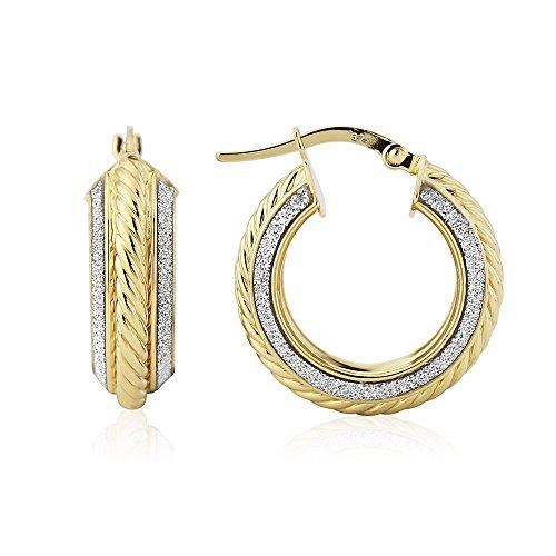 9ct Yellow Gold Glitter Grecian Earring (Grecian Ohrringe)