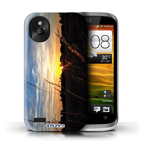 Kobalt® Imprimé Etui / Coque pour HTC Desire X / limite forestière conception / Série Coucher du Soleil limite forestière
