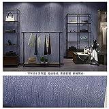 Simple couleur unie imperméable bleu paon papier peint salon chambre uni gris papier peint gris foncé bleu 0.53m * 10m