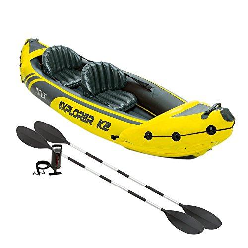 Intex - Kayak hinchable explorer k2 & 2 remos - 312x91x51 cm - 68307NP (modelo variable según imagen)