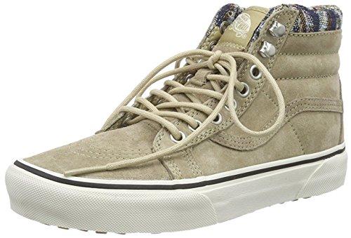 Vans U Sk8-Hi MTE, Unisex-Erwachsene Hohe Sneaker, Beige (MTE/Khaki/Woven Chevron), 34.5 EU (Khaki Authentic)
