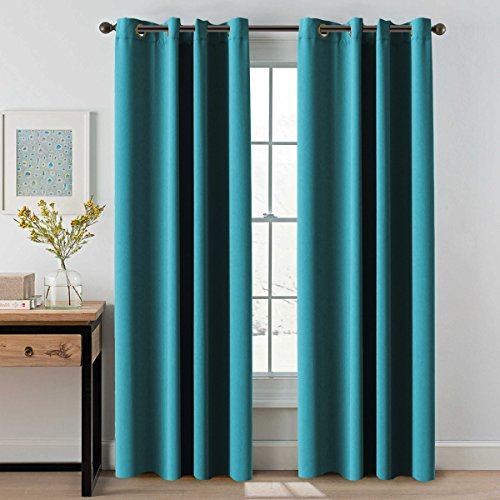 Teal Curtains: Amazon.co.uk