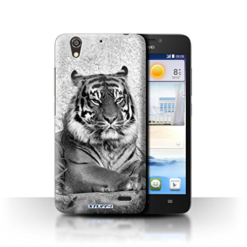 Stuff4® Hülle/Hülle für Huawei Ascend G630 / Tiger Muster/Zoo-Tiere Kollektion