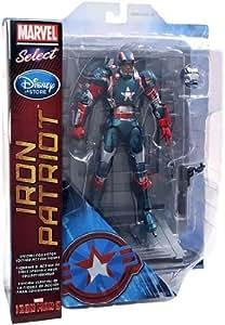 Disney Store Marvel Select Iron Man 3 Exclusive Action Figure Iron Patriot