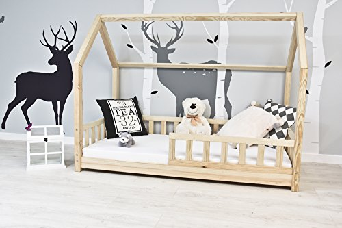 best for kids kinderbett kinderhaus mit rausfallschutz jugendbett natur haus holz bett mit oder. Black Bedroom Furniture Sets. Home Design Ideas