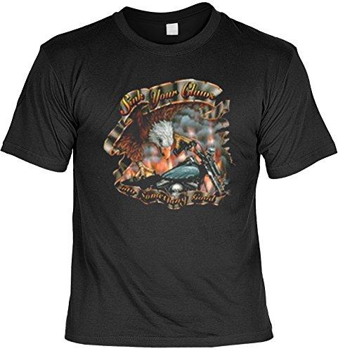 Biker Legende Harley Motiv T-Shirt : Sink Your Claws into Something Good - T-Shirt bedruckt (T-shirt Biker Harley)