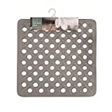 Invero® Durable Non-Slip PVC Deluxe Pebble Effect Anti Slip Bath Shower Mat Finished with Draining Holes and Suction Cups - 36cm x 69cm Blue