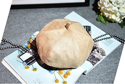 Women Girl Fashion Classic Warm French Style Peaked Beret Hat Flat Caps Kaki