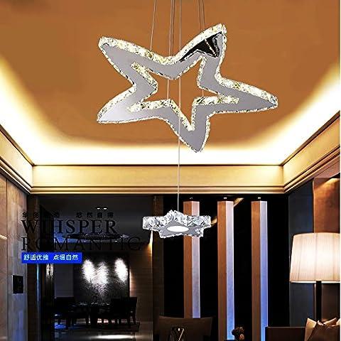 CNMKLM Araña acrílica Lámpara de techo con lámpara incluida para sala de estudio/oficina, Dormitorio, Salón