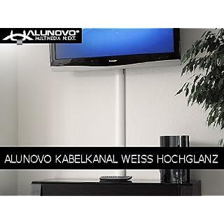 Alunovo Kabelkanal (L x B x H) 250 x 80 x 20 mm white (glänzend) Inhalt: 1 St.