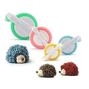 Pom Pom Fare,PALADY 4 formati di Pom Pom Maker Per i bambini fai da te a maglia mestiere strumento Fluff sfera Weaver Maker
