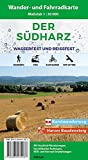 Der Südharz: Wasserfeste und Reißfeste Wander- und Fahrradkarte