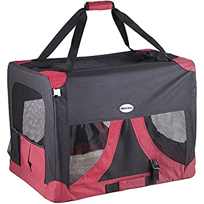 MILO & MISTY Large Fabric Pet Carrier - Lightweight Travel Seat for Dogs, Cats, Puppies - Made of Waterproof Nylon and a… 1