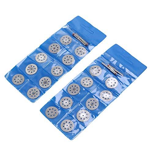 Yardwe 20 Stücke 22 mm Diamant Trennscheiben Sägeblätter mit 4 Mandrel für Dremel-Zubehör Metal diamantscheibe