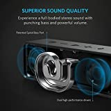 Anker SoundCore Portable Bluetooth 4.0 Stereo Speaker with 24-Hour Playtime, 6W Dual-Driver, Low Harmonic Distortion, Patented Bass Port and Built-in Microphone for Calls for iPhone, iPod, iPad, Samsung, Echo, LG and others